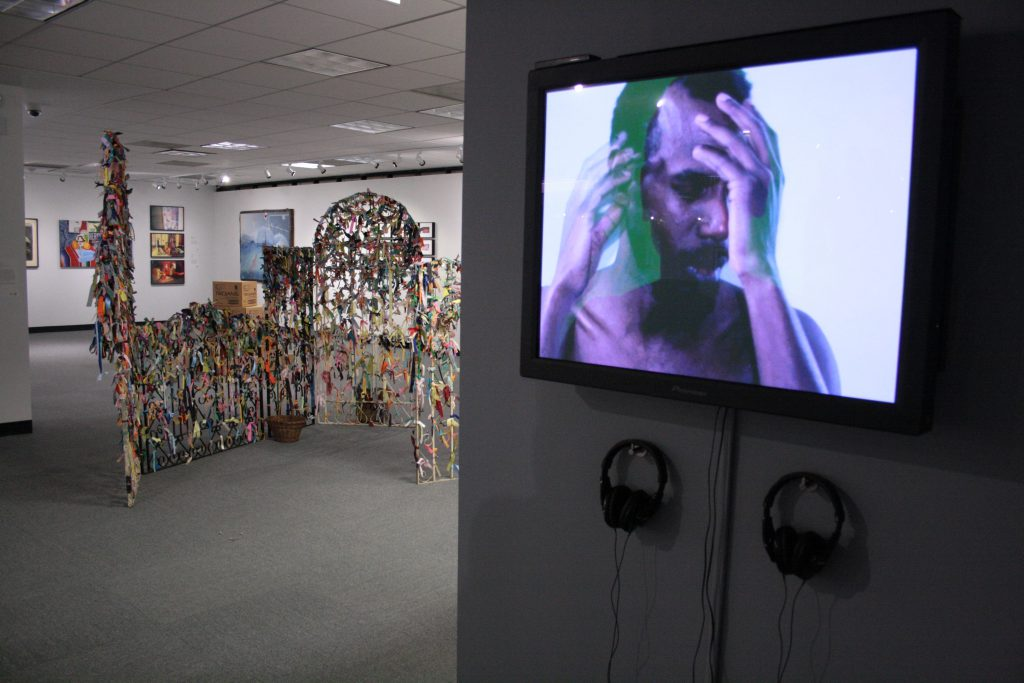 (Right) Derek Jackson, Perfect Kiss, slideshow, 2007. Photo by Sixty Inches From Center.