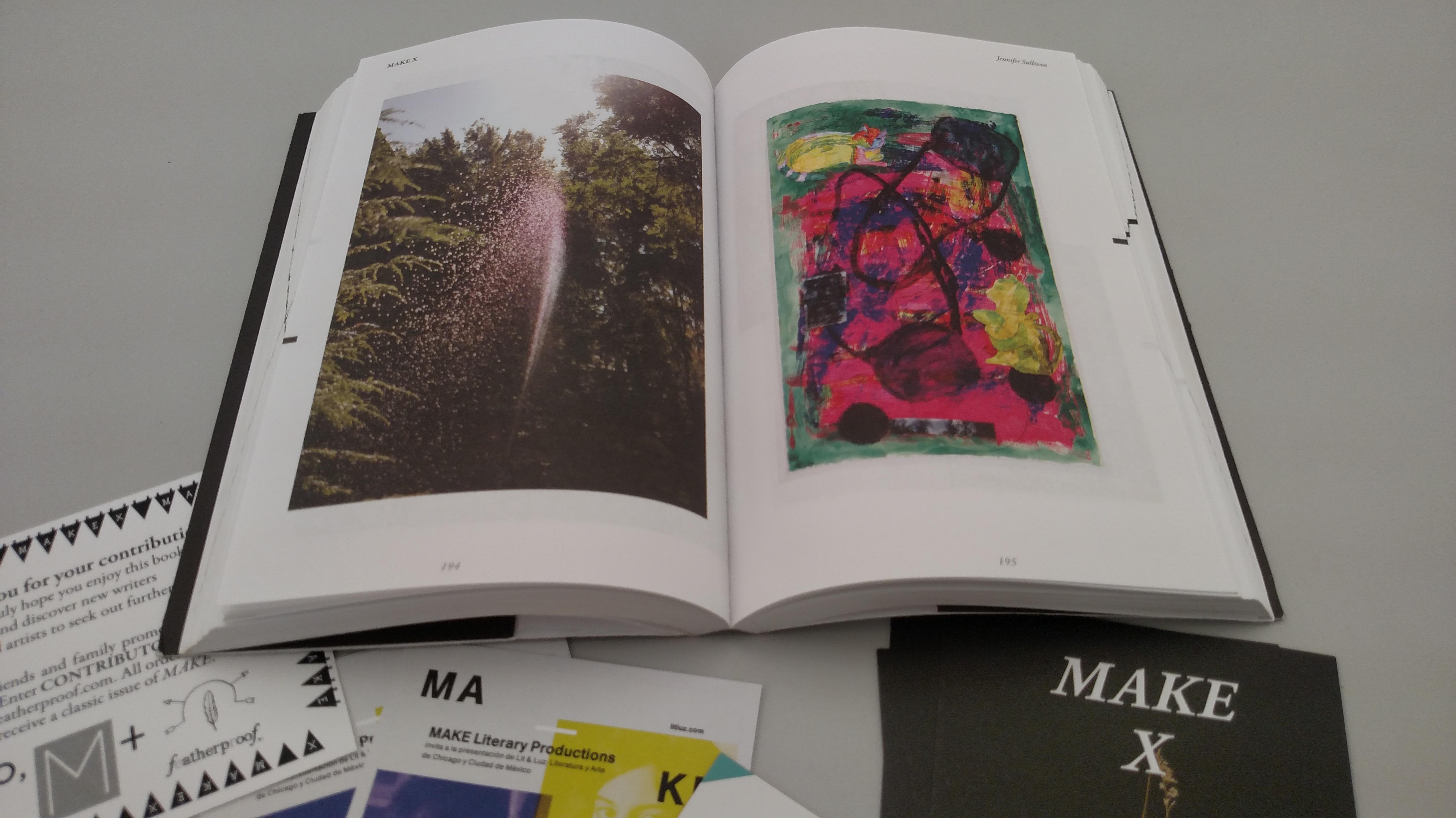 A selection of MAKE Literary Magazine's ephemera for the archive. Image credit: Jennifer Patiño Cervantes.