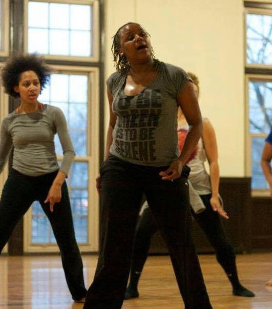 Red Clay Dance Company in rehearsal at Fuller Park. Photographer: Raymond Jerome