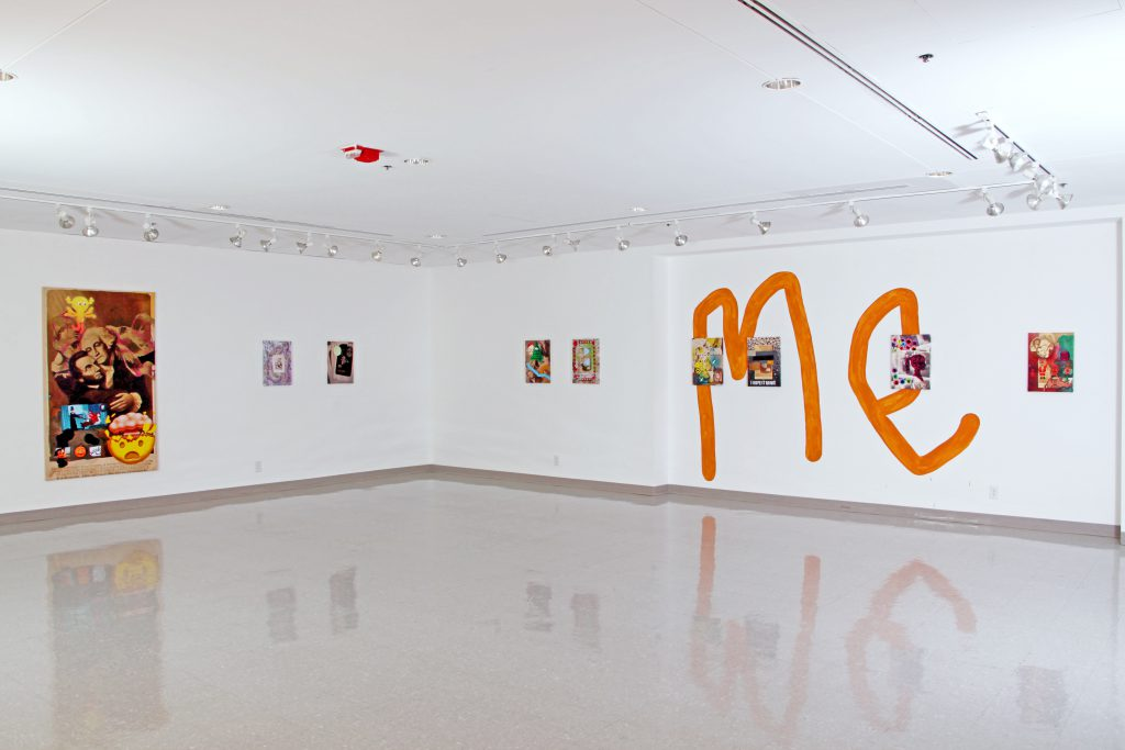Installation view of Hold Me, a solo show of work by Erin Hayden at the University of Illinois Springfield's Visual Arts Gallery, 2018. Photo courtesy of UIS Visual Arts Gallery.