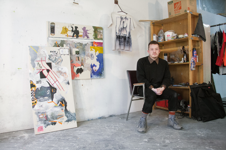 Portrait of the artist in his studio. Image credit: S. Nicole Lane.