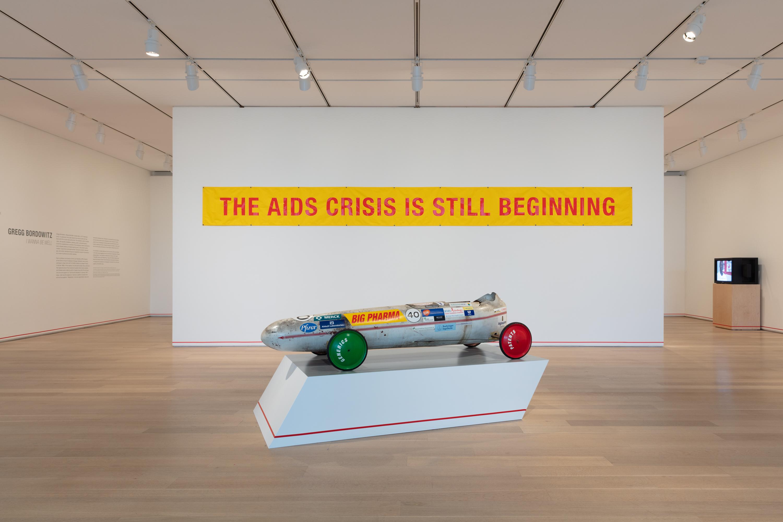 Image: Installation shot of Gregg Bordowitz: I Wanna Be Well, 2019. © Gregg Bordowitz. Image courtesy of the Art Institute of Chicago.