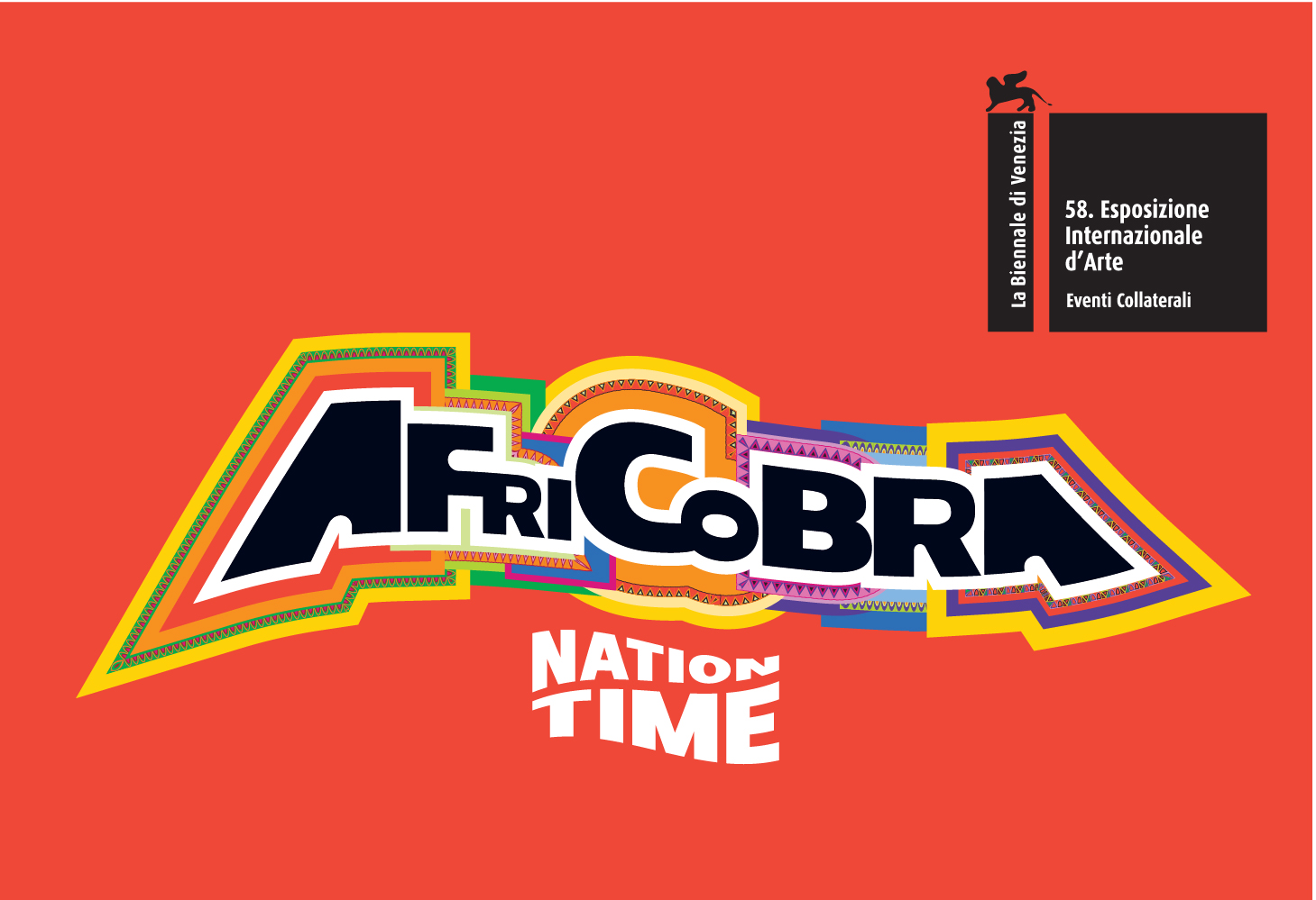 AFRICOBRA: Nation Time official Collateral Event promotion materials for 2019 Venice Biennale