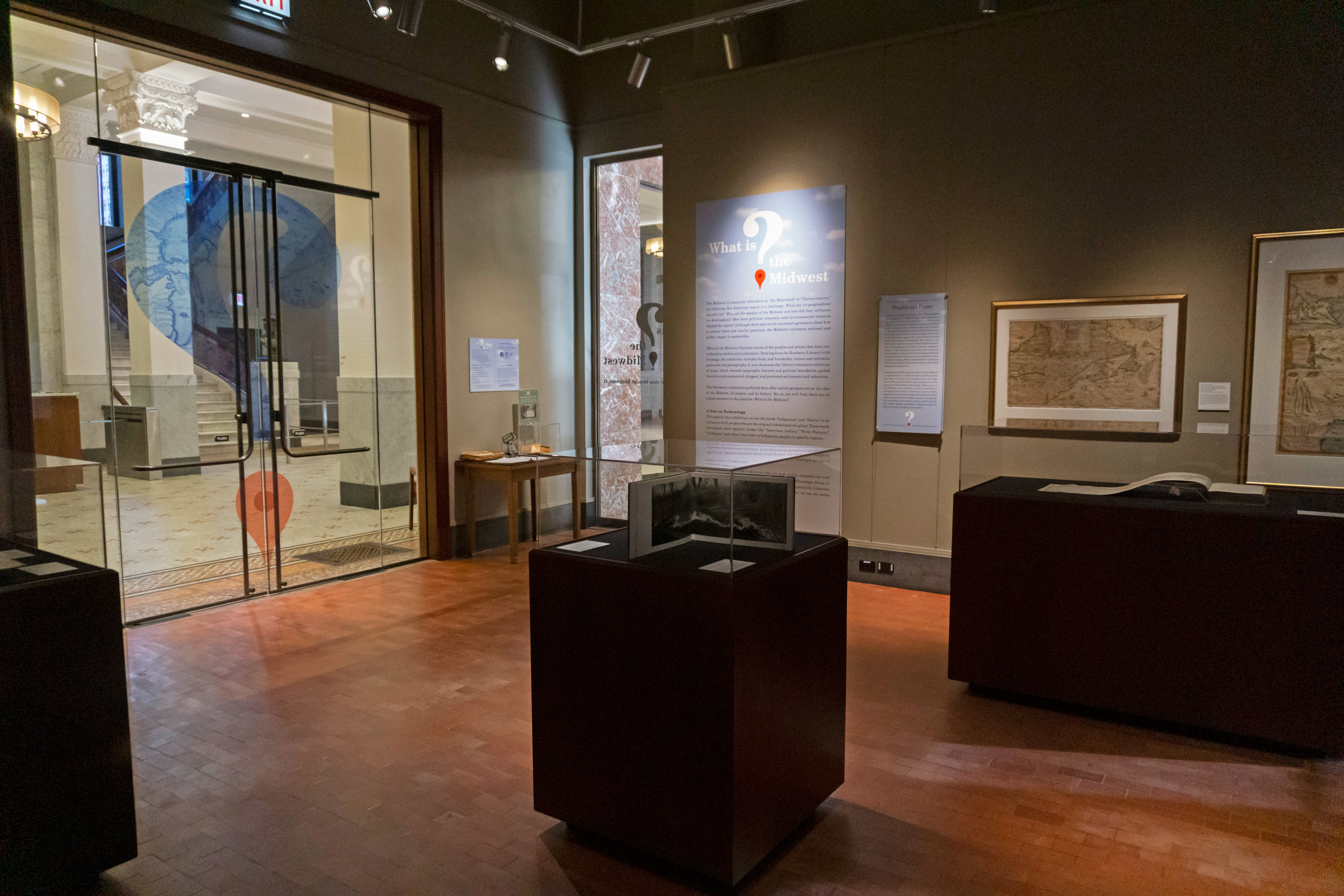 Landscape of What is the Midwest? exhibition at The Newberry Library