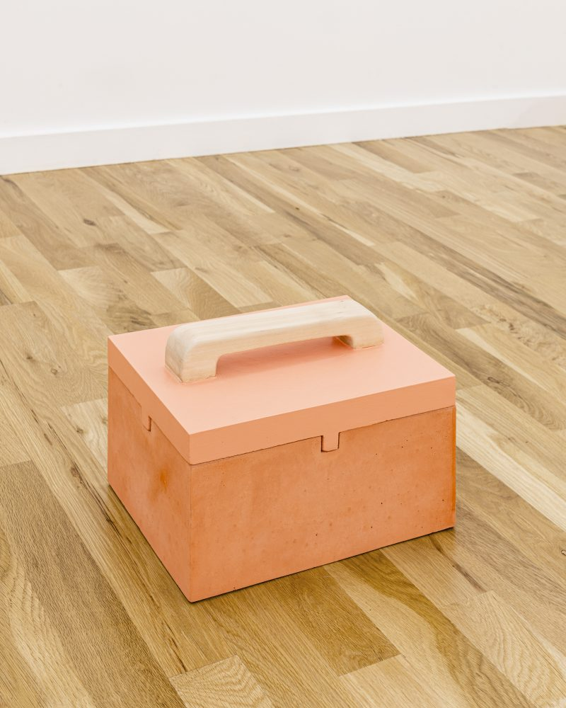 "Image: Gordon Hall's ""Closed Box with Painted Top"" (2019), courtesy  Document Gallery."