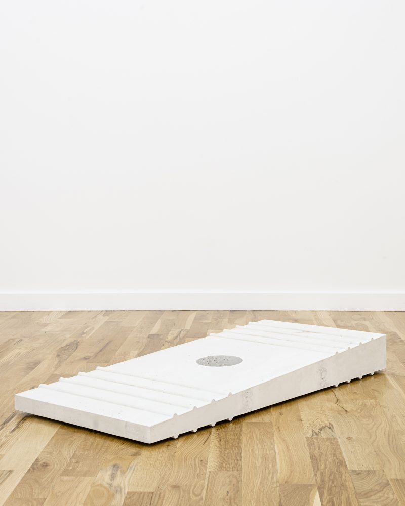 "mage: Gordon Hall's ""Shim (White),"" courtesy Document Gallery"