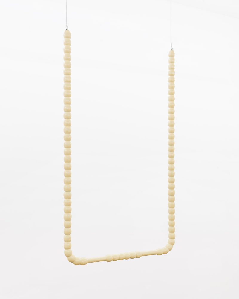 "Image: Gordon Hall's ""Turned Hanging Bar (Beige),"" courtesy Document Gallery."