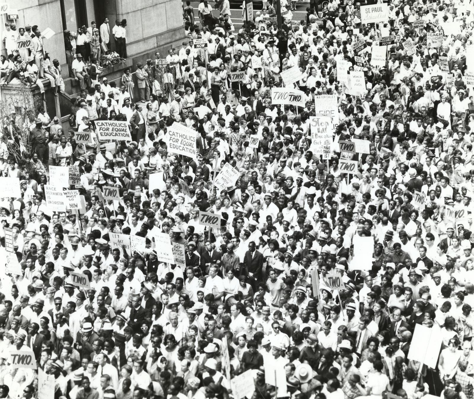 Image: Chicago Rally, date unknown. From the Chicago Urban League Photos collection, the University of Illinois at Chicago Special Collections and Archives.