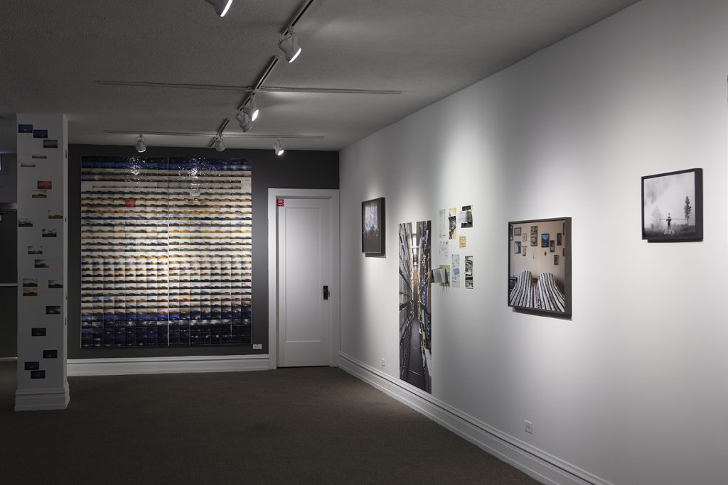 Image: Installation view of the exhibition The Rocket's Red Glare at the DANK Haus German American Cultural Center. The show features the photographic work of Barbara Diener. Image courtesy of the artist.