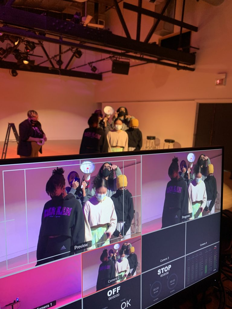 Image: A behind the scenes look at the performance Viewership Intended for Re(Creational) Use Only by Kierah King. Photo by Giau Truong.
