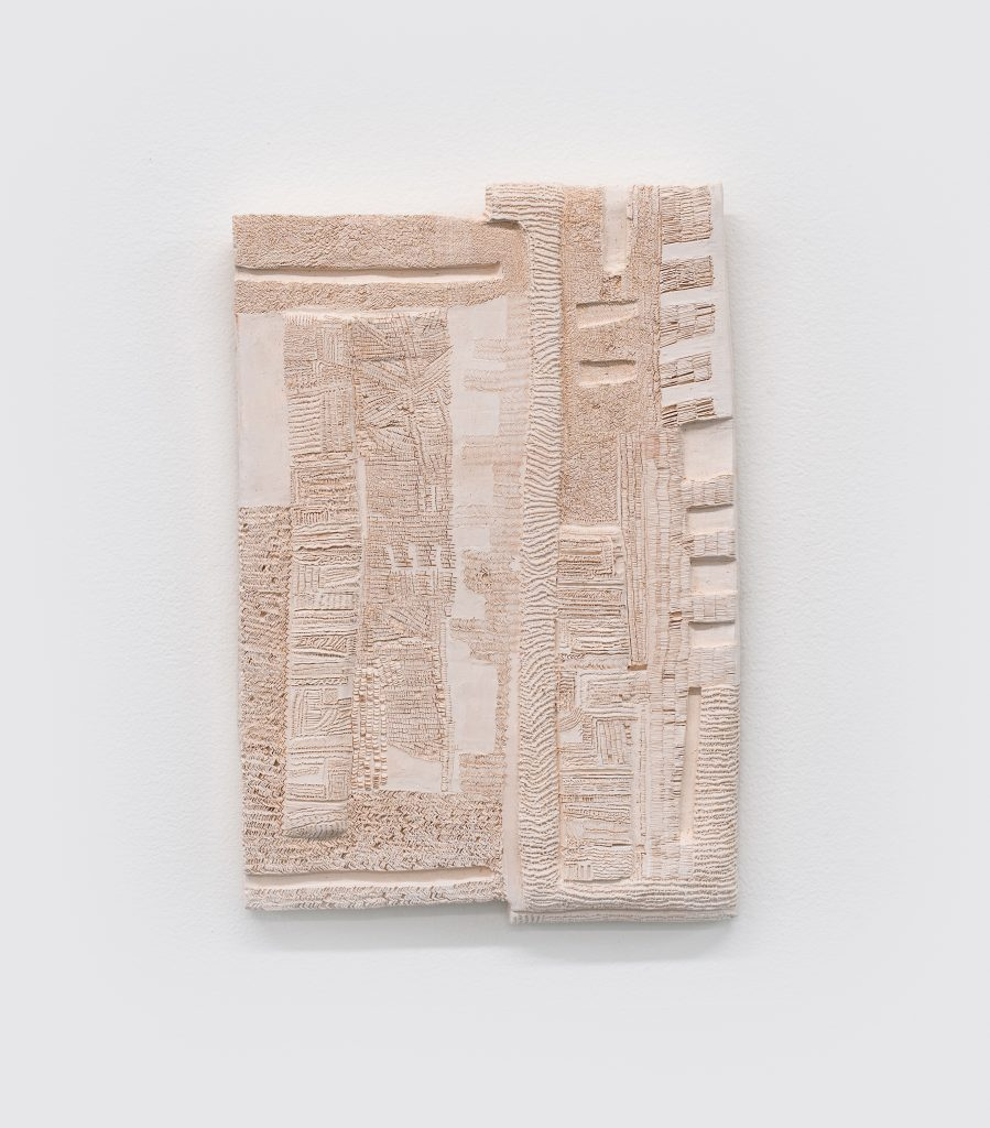 Image: Remnants of a Sandy Substance by SaraNoa Mark, 2021, carved clay. Photo by Ryan Edmund Thiel. Courtesy of Goldfinch Gallery and the artist.