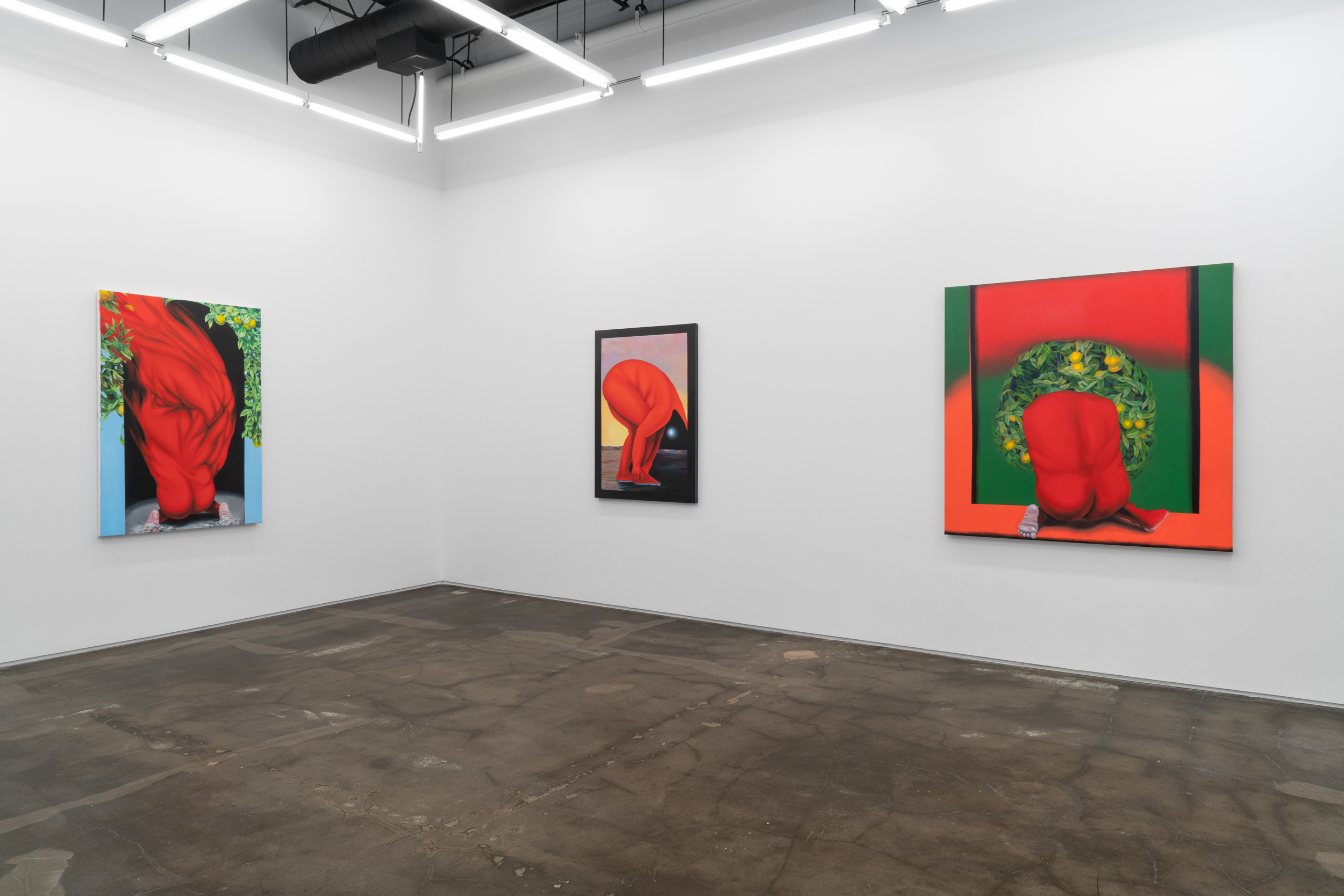 Image: An installation view of Brittney Leanne Williams: How Far Between and Back. Courtesy of the artist and Monique Meloche Gallery