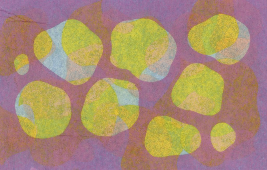 Image: An abstract composition of yellow organic shapes with violet and orange in the background. Illustration by Ryan Edmund Thiel.