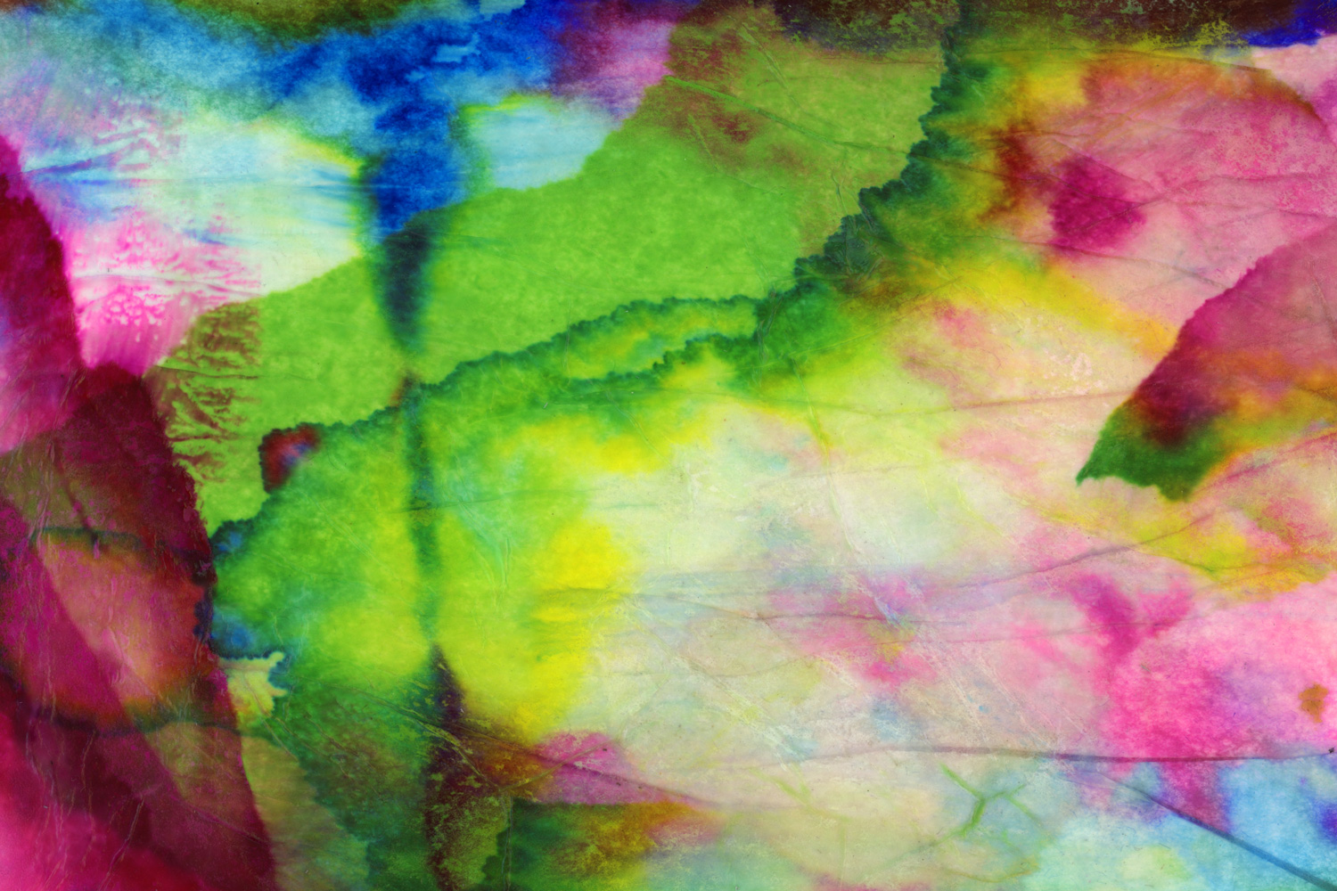 An abstract image made from varying colored tissue papers. Illustration by Ryan Edmund Thiel.