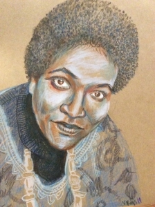 A portrait of Audre Lorde by Venise Keys, 2019.